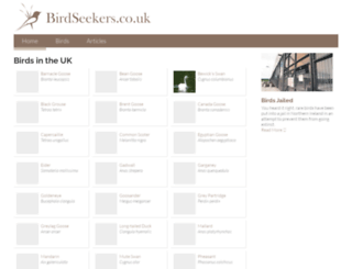birdseekers.co.uk screenshot