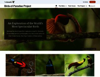 birdsofparadiseproject.org screenshot