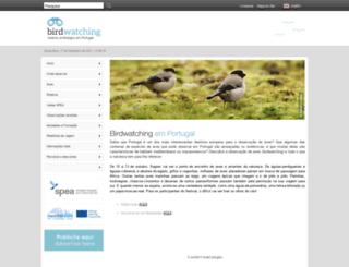 birdwatching.spea.pt screenshot