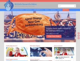 birthdefects.org screenshot