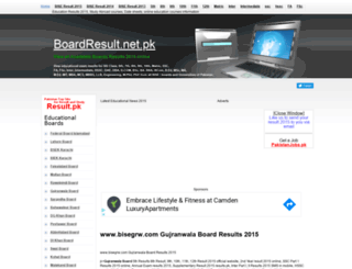 bisegrw.boardresult.pk screenshot