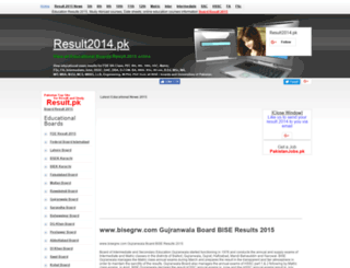 bisegrw.result2014.pk screenshot