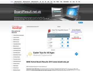 bisekt.boardresult.pk screenshot
