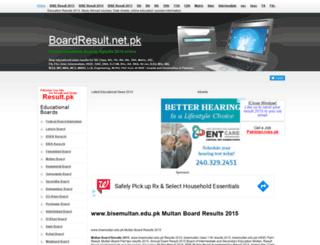 bisemultan.boardresult.pk screenshot