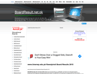 biserwp.boardresult.pk screenshot