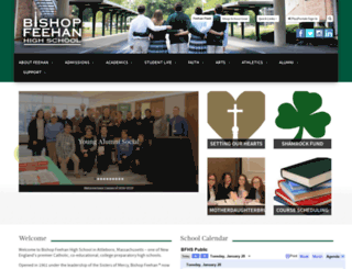 bishopfeehan.com screenshot
