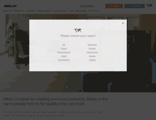 bisley.com screenshot