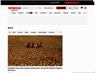 bisnis.tempo.co screenshot