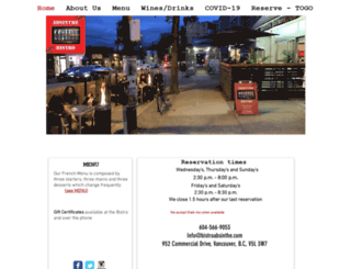 bistroabsinthe.com screenshot