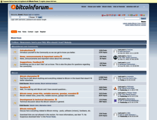 bitcoinforum.com screenshot