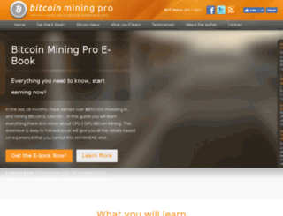 bitcoinminingpro.com screenshot