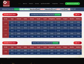 bitumenindia.com screenshot