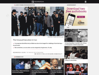bizarrepedia.com screenshot