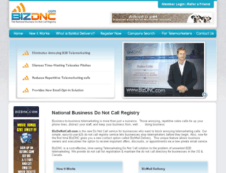 bizdonotcall.com screenshot