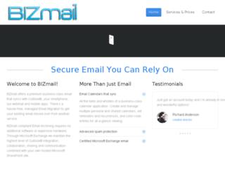 bizmail.com screenshot