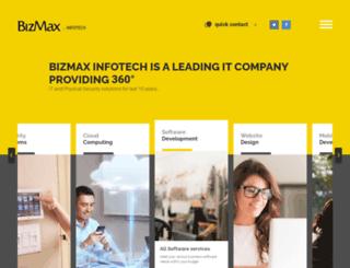 bizmaxinfotech.com screenshot