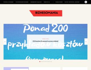 biznesomania.com.pl screenshot