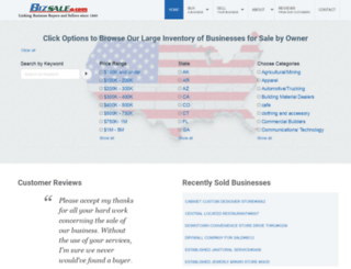 bizsale.com screenshot
