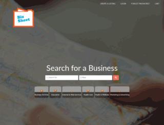bizsheet.com screenshot