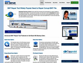 bkfrepair.net screenshot