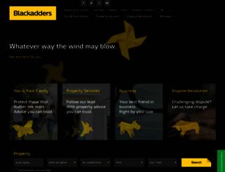 blackadders.co.uk screenshot