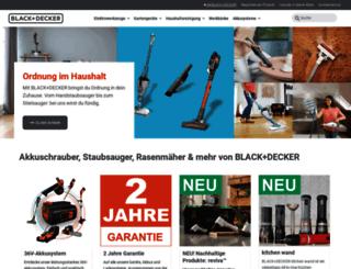 blackanddecker.de screenshot