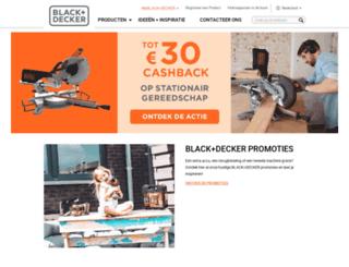 blackanddecker.nl screenshot