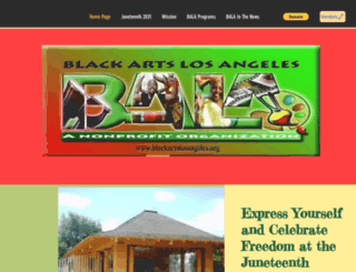 blackartslosangeles.org screenshot