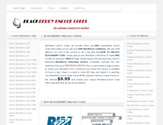 blackberryunlockcodes.org screenshot