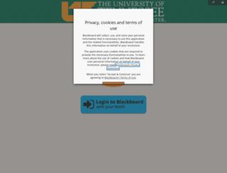 blackboard.uthsc.edu screenshot