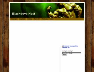 blackdovenest.com screenshot