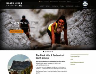 blackhillsbadlands.com screenshot