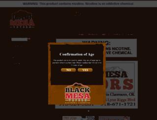 blackmesavapors.com screenshot