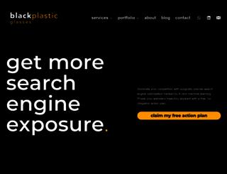 blackplasticglasses.com screenshot