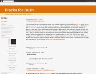 blacksforbush.blogspot.com screenshot