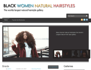 blackwomennaturalhairstyles.com screenshot
