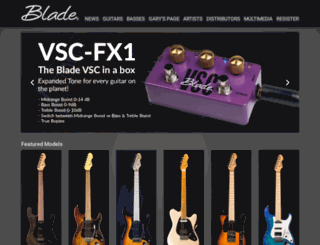 bladeguitars.com screenshot