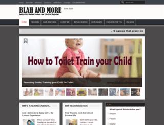 blahandmore.com screenshot