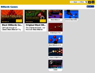 blastbilliards.com screenshot