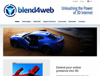 blend4web.com screenshot