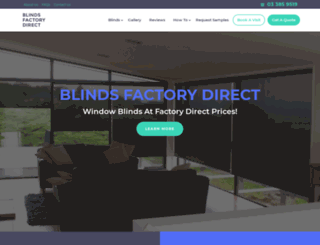 blinds-factorydirect.co.nz screenshot