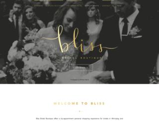 blissbridalwinnipeg.com screenshot