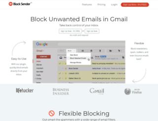 blocksenderapp.com screenshot