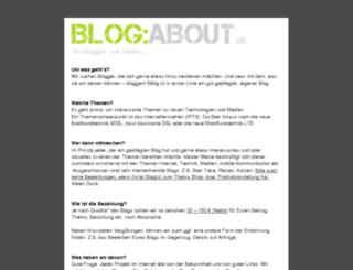 blog-about.de screenshot