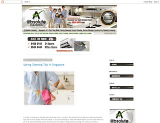 blog.absolutecleaning.com.sg screenshot