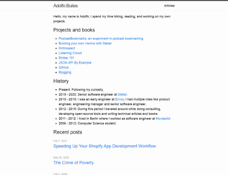 blog.abuiles.com screenshot