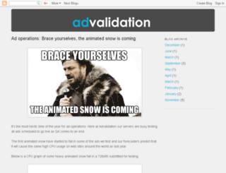 blog.advalidation.com screenshot