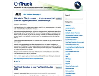blog.aecsoftware.com screenshot