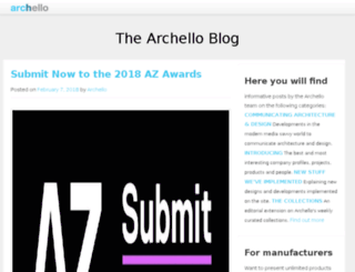 blog.archello.com screenshot