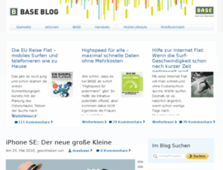 blog.base.de screenshot
